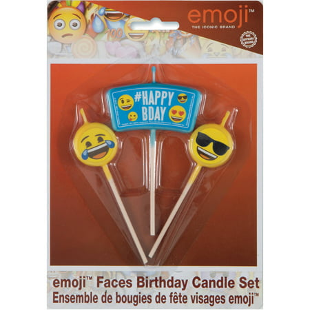 Emoji Birthday Candles 3pc