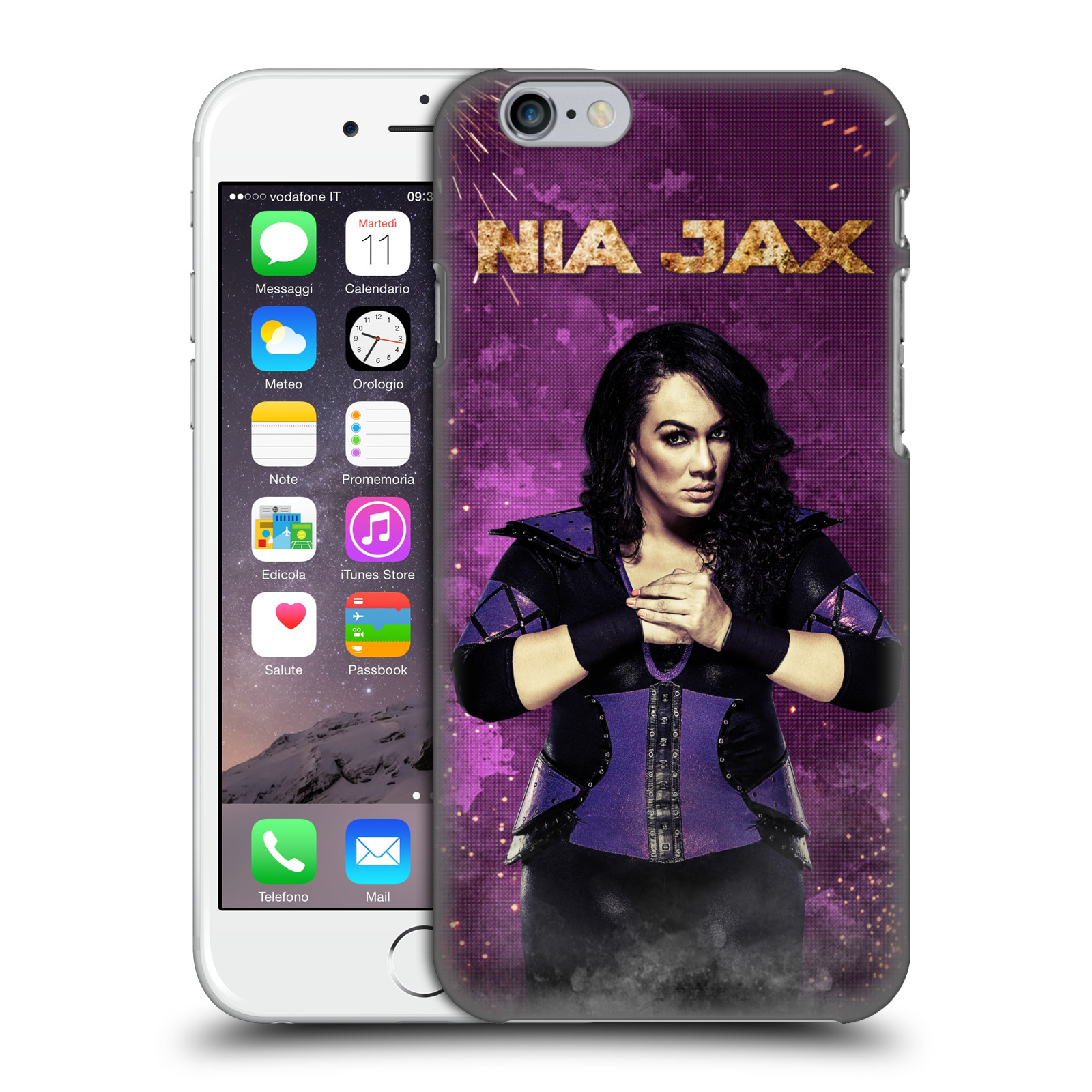 OFFICIAL WWE NIA JAX HARD BACK CASE FOR APPLE IPHONE PHONES