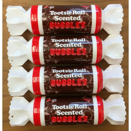 Playtek Tootsie Roll Chocolate Scented Bubbles - 4pk TR4081 ()