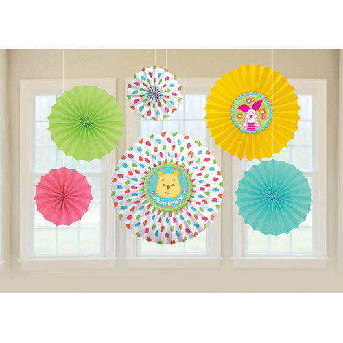 Pooh Little Hunny Paper Fans