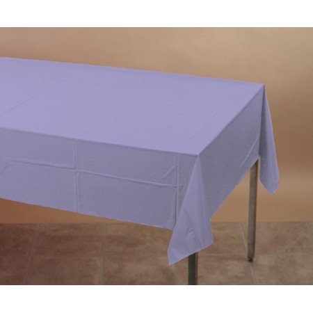Pack of 6 Luscious Lavender Disposable Tissue/Poly Banquet Party Tablecovers 9'
