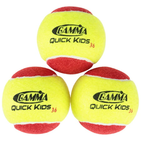 Gamma Quick Kids 36 Tennis Balls 12 ct Pack
