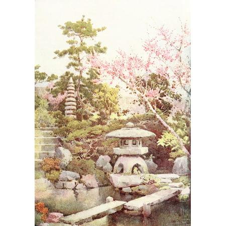 - An old garden Flowers & Gardens of Japan 1908 Poster Print by  Ella Du Cane
