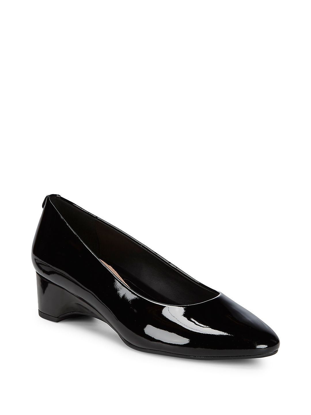 Babs Patent Leather Demi-Wedge Pumps