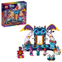 LEGO Trolls World Tour Volcano Rock City Concert 41254 Toy Building Kit for Kids (387 Pieces)