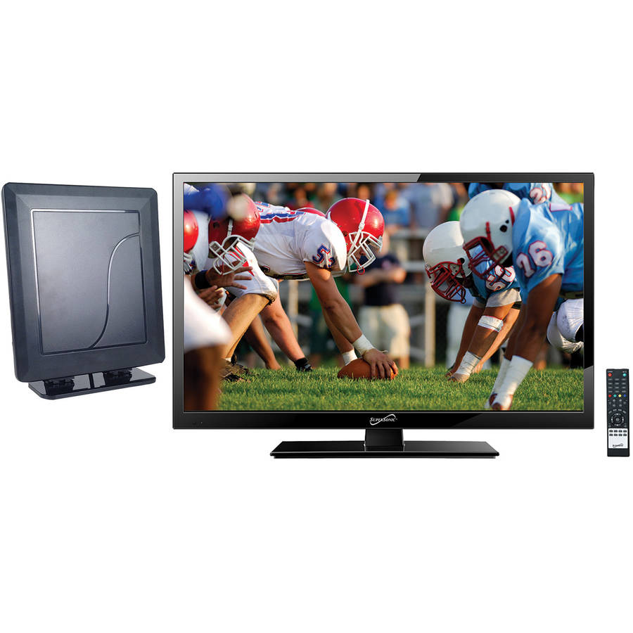 "Supersonic 19"" Class - HD LED TV - 720p, 60Hz (SC-1911) and SC-611 HDTV Flat Digital Antenna"