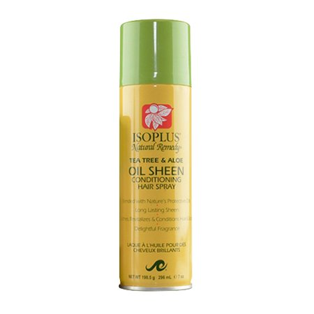 JM Products Isoplus Natural Remedy Tea Tree & Aloe Oil Sheen Conditioning Hair Spray, 7 - Aloe Tea