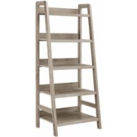 Product Image Linon Tracey Ladder Bookcase Grey 5 Shelves