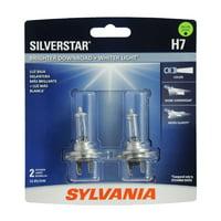 Sylvania H7 SilverStar Auto Halogen Headlight Bulb, Pack of 2.