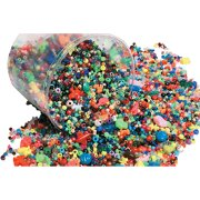 Stanislaus Imports 085879 School Smart Plastic Bead, Assorted Size, Assorted Color, 3 lbs Bucket - Pack of 3000