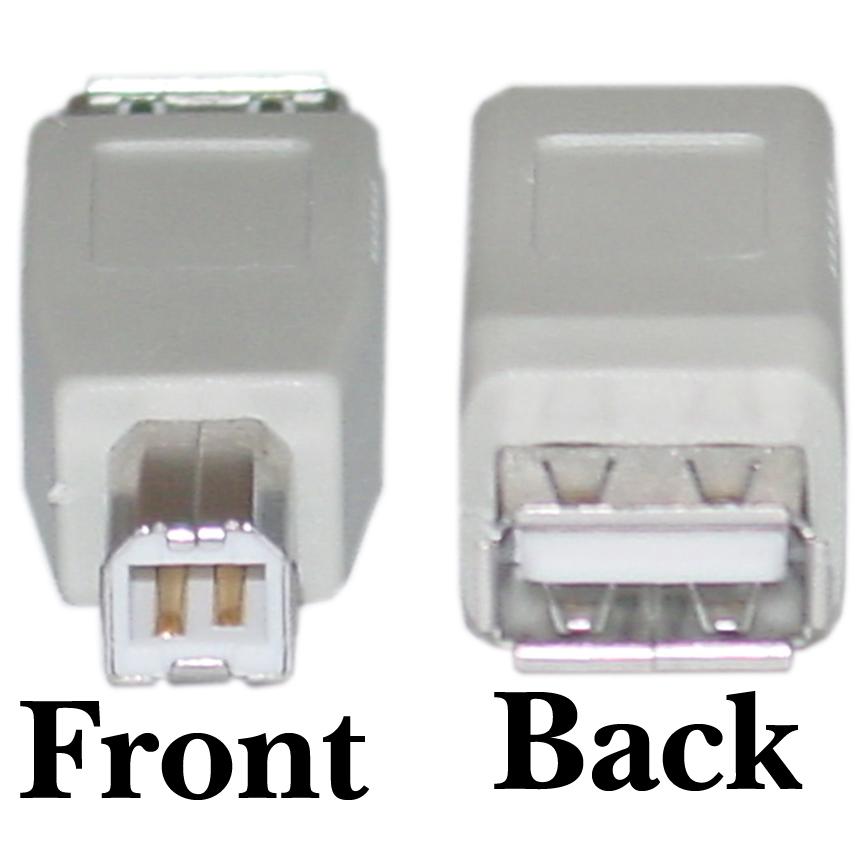 ACCL USB A to B Adapter, Type A Female to Type B Male, 10pk