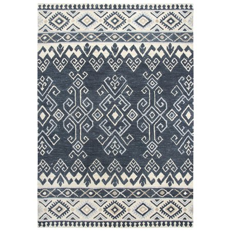 Gatney Rugs Pilaf Area Rugs Sh198b Contemporary Denim Banded Bards