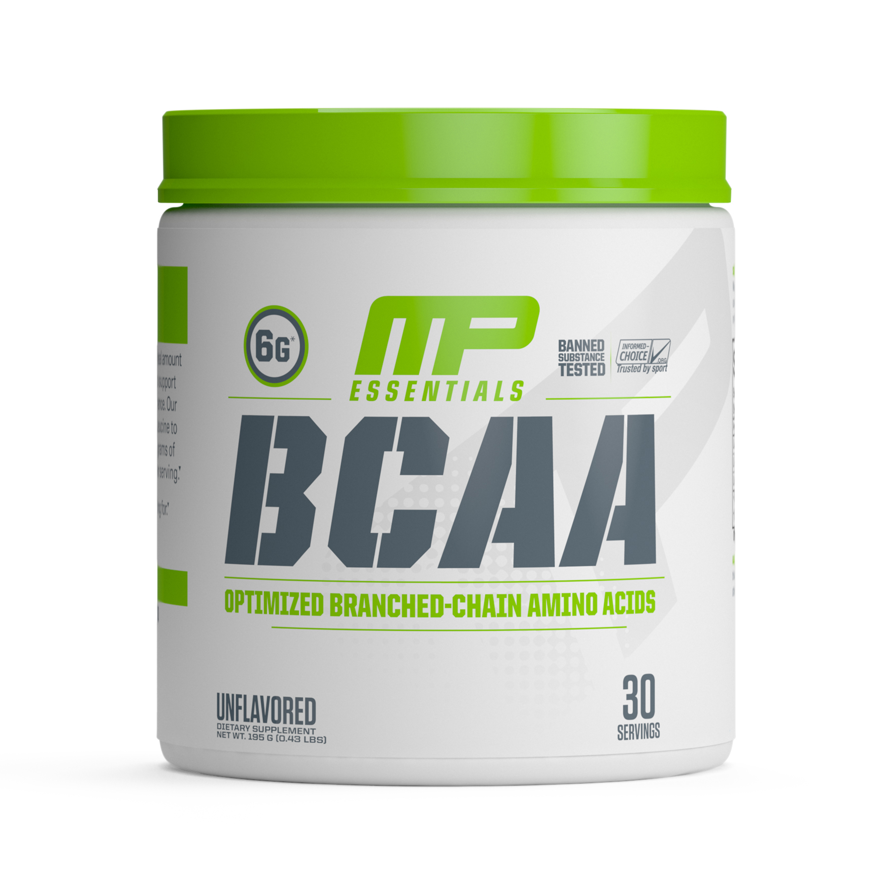 MusclePharm Essentials BCAA 3:1:2 Powder, Unflavored, 30 Servings