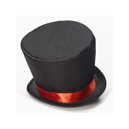 Mad Hatter Adult Top Hat Halloween Accessory