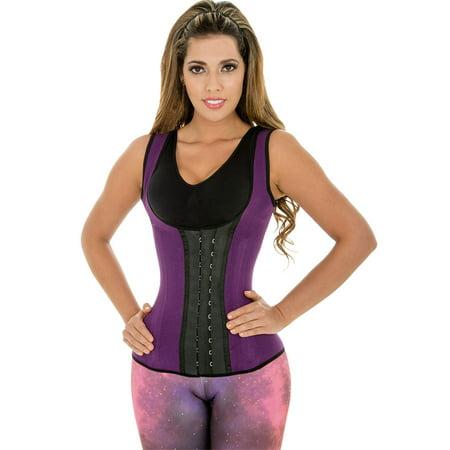 3125fc5ea Fiorella Shapewear - Fiorella Shapewear Sports Latex Vest Waist Cincher  Trainer Corset Steel Boned Metal hooks Fajas Chaleco Reductoras Colombianas  Purple ...