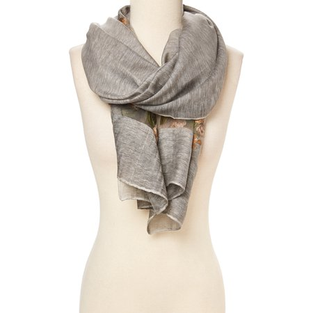 Gray Scarfs for Women Lightweight Casual Winter and Summer Fall Fashion Scarves for Ladies Girls Warm Neck Scarf Womens Gift Ideas by