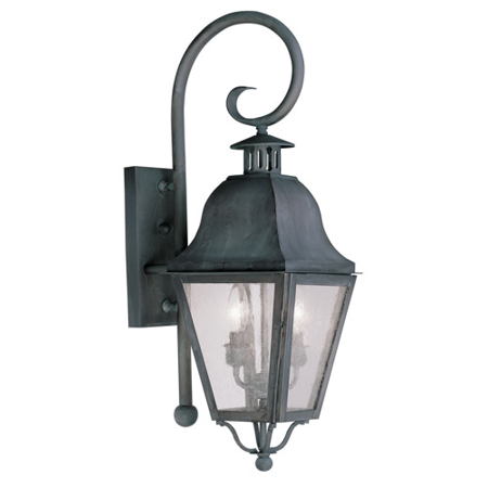 Wall Sconces 2 Light With Seeded Glass Charcoal Finish size 26 in 120 Watts - World of Crystal ()