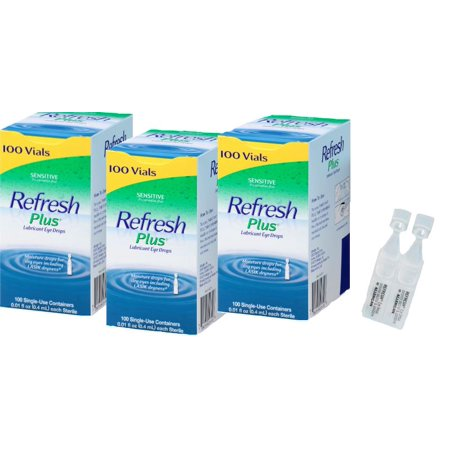 Allergan Refresh Plus Lubricant Eye Drops Single-Use Vials (PACK 3)