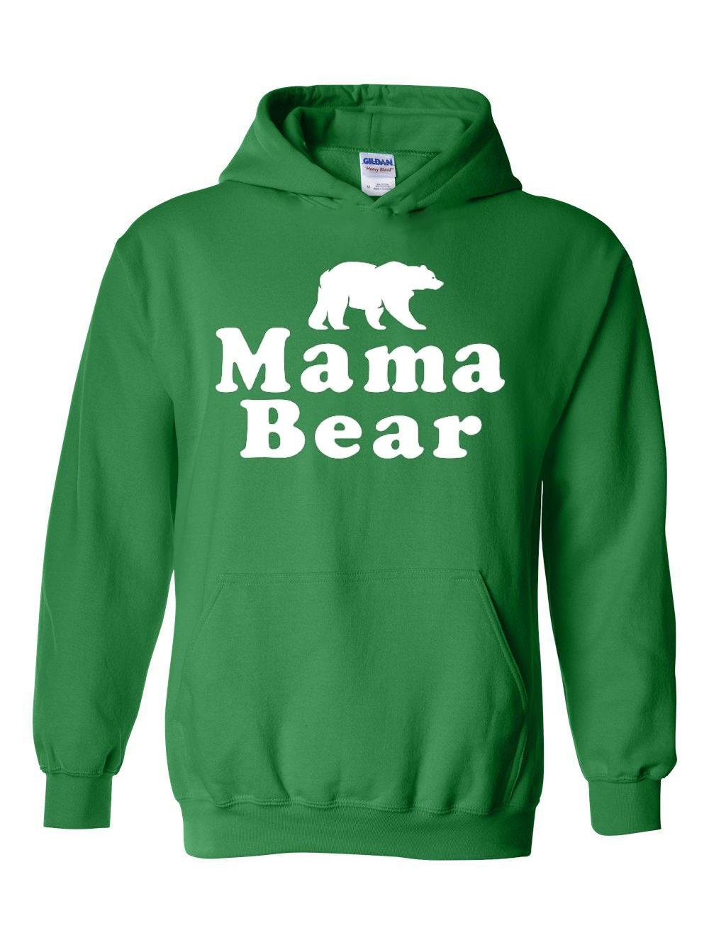 Adult Novelty Hoodie Mama Bear Mothers day Gift New Mummy