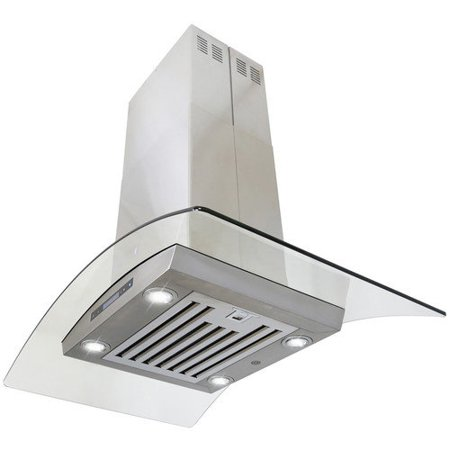 Image of 36 inch 870 CFM Island Mount Ventless Ductless Range Hood with Touch Panel