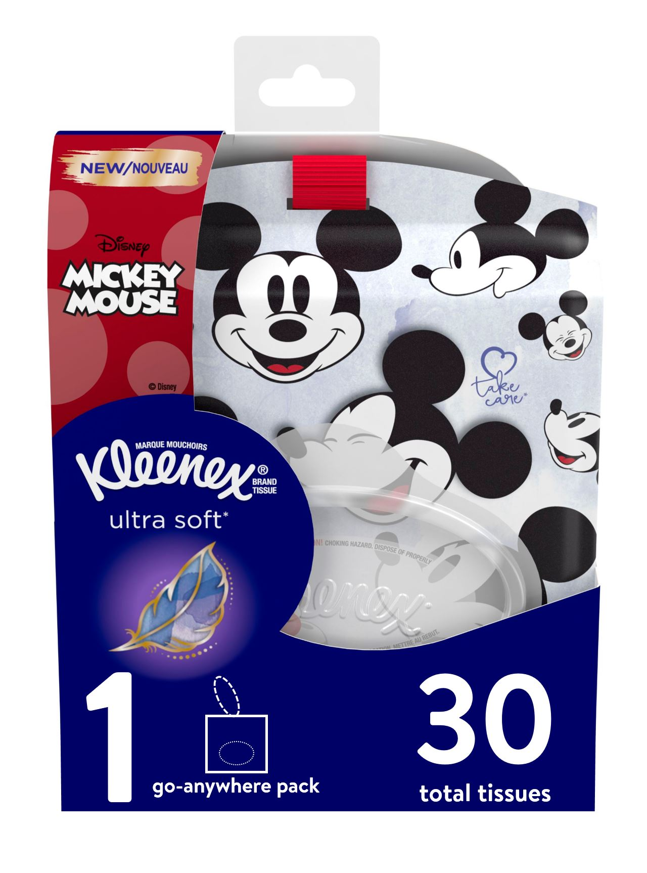 Kleenex Ultra Soft Go Anywhere Pack Facial Tissues, 30 Tissues per Pack