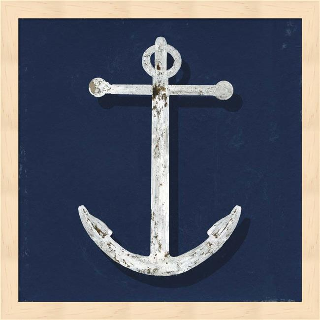 Metaverse R950472-0120000-AEAAAACAN4 13.25 x 13.25 in. Lower the Anchor Framed Wall Art by Aimee Wilson - image 1 of 1