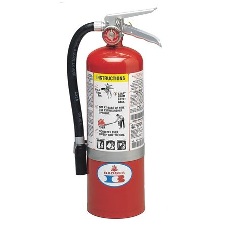 Badger 5 lb. Capacity, Fire Extinguisher, Dry Chemical, 5MB-6H