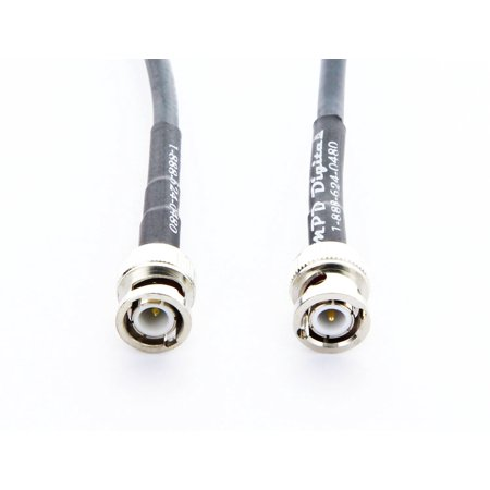 Andrew Commscope Cnt 240 Ham Or Cb Radio Antenna Coaxial Cable Lmr240 Transmission Line   Bnc Male Connectors    20 Ft