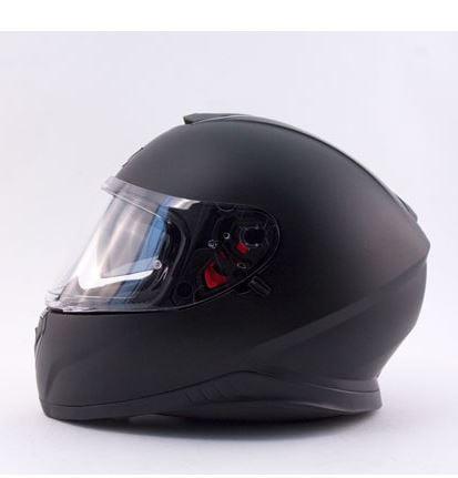 Zox Z-FF10 SVS Solid Full Face Helmet Matte Black