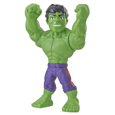Playskool Heroes Marvel Super Hero Adventures Mega Mighties Hulk, 10-Inch Action Figure, Toys for Kids Ages 3 and Up (Elektra Superhero)