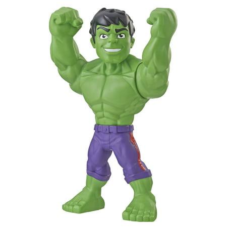 Playskool Heroes Marvel Super Hero Adventures Mega Mighties Hulk, 10-Inch Action Figure, Toys for Kids Ages 3 and Up](Superhero For Kids)