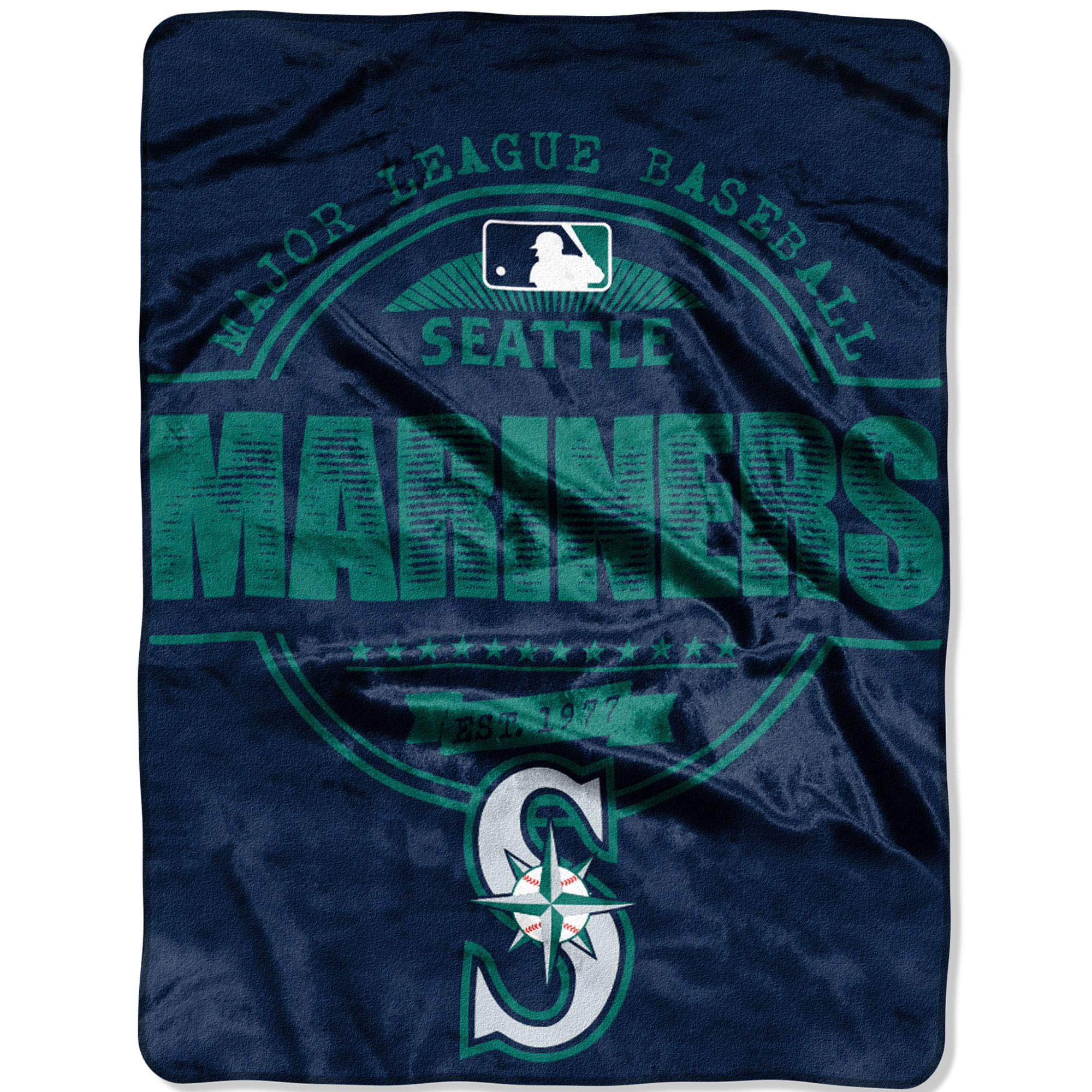 "Seattle Mariners The Northwest Company 46"" x 60"" Structure Micro Raschel Plush Blanket - No Size"