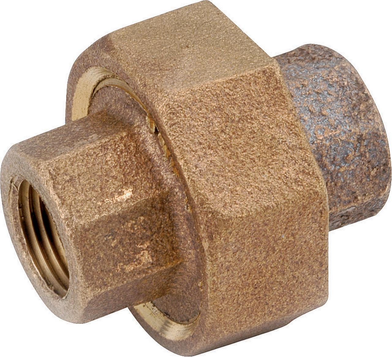 Anderson 738104-20 Pipe Union, 1-1/4 in, FPT, Brass