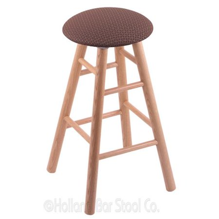 XL Oak Bar Stool in Natural Finish with Axis Willow Seat