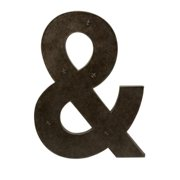 Home Decor Improvements 74078 Ampersand Metal Magnet Board with Magnets