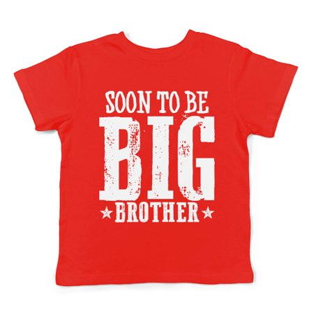e928c5f3 Lil Shirts - Lil Shirts Soon To Be Big Brother Youth & Toddler T-shirt  (Red, Large) - Walmart.com
