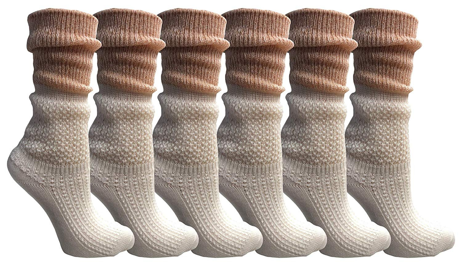 Unique Frilly Cuff Fashion Trendy Ankle Socks Yacht/&Smith Ruffle Slouch Socks for Women