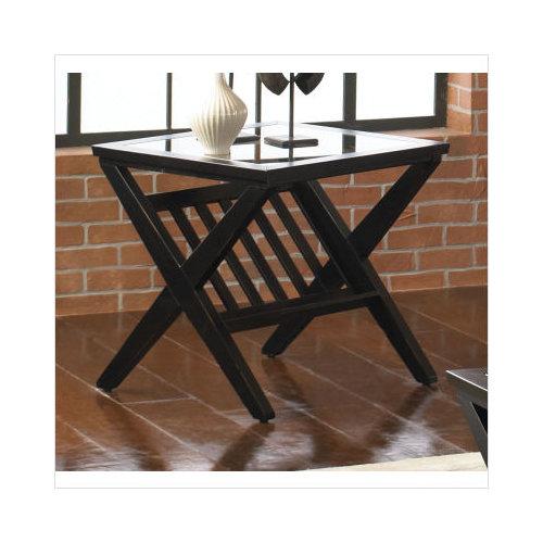 Beau Standard Furniture Blackstone End Table In Black