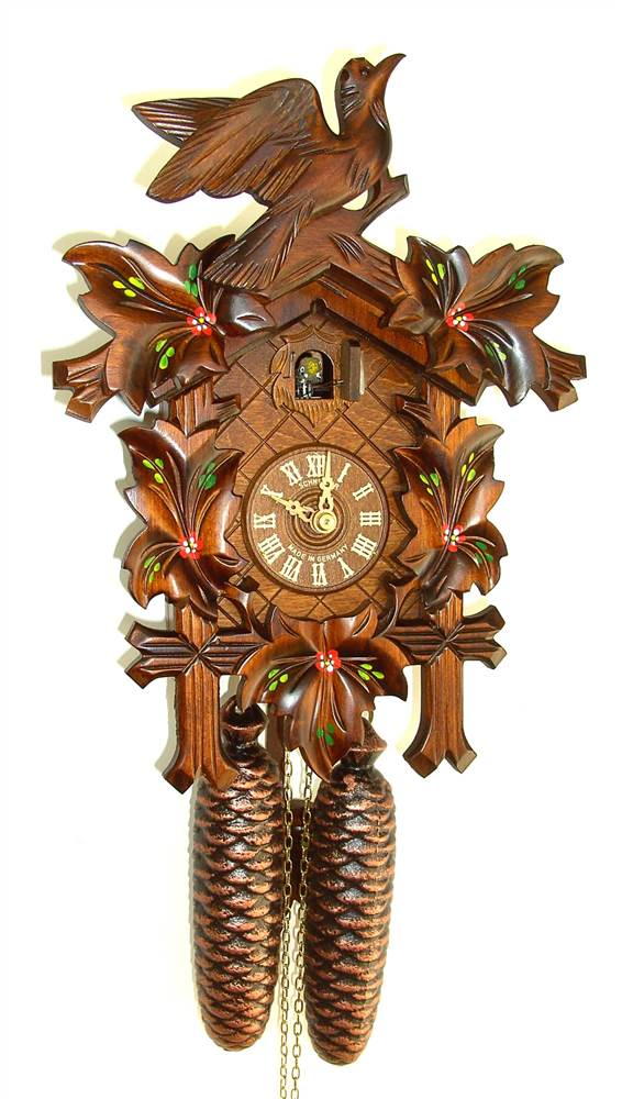 8-Day Traditional Cuckoo Clock w Door by Schneider Cuckoo Clocks