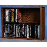 24.25 in. Dowel DVD Storage (Honey Oak)