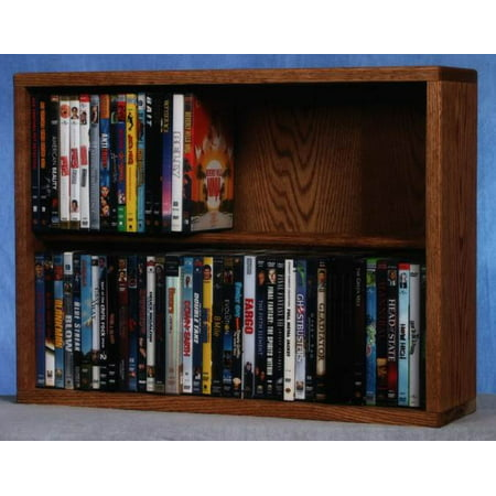 24.25 in. Dowel DVD Storage (Honey Oak)