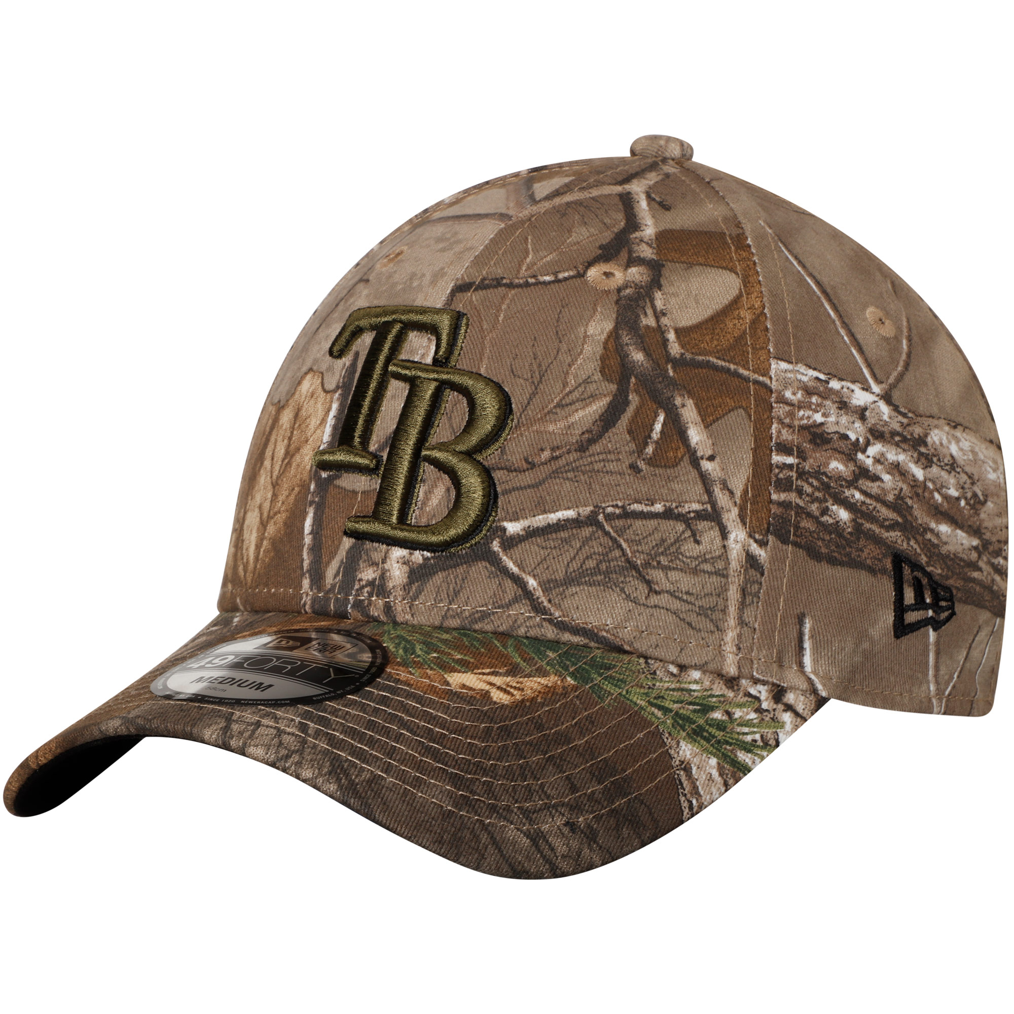 Tampa Bay Rays New Era Realtree 49FORTY Fitted Hat - Camo