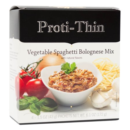 Proti-Thin - Vegetable Spaghetti Bolognese - Low Calorie - Low Fat - Quick Delicious Meal - 4/Box