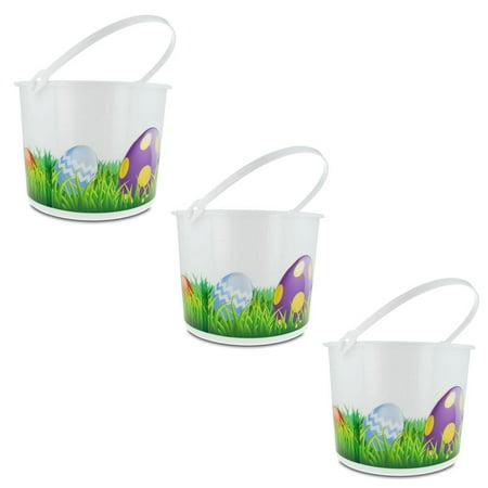 Set of 3 Plastic Easter Egg Hunt Buckets](Easter Bucket)
