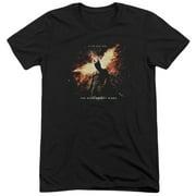 Dark Knight Rises Fire Will Rise Mens Tri-Blend Short Sleeve Shirt