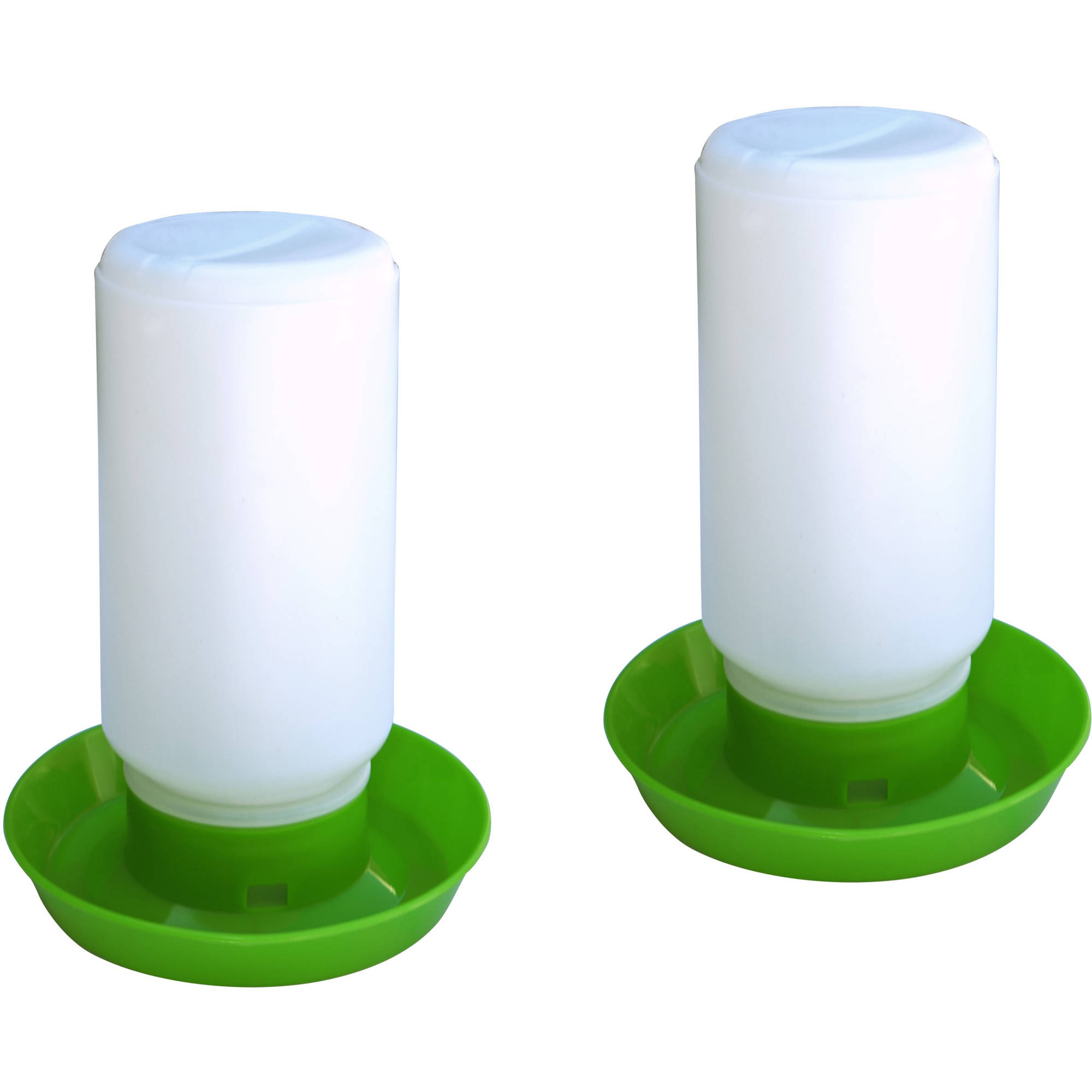 ALEKO 2PDR001 Poultry Water Container, Set of 2, Green and White by ALEKO
