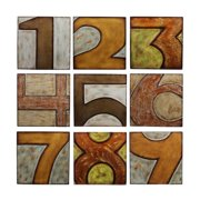 Privilege 63068 9 Piece Wood Numbered Wall Decor
