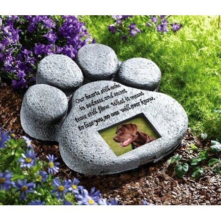 Ctd Store Dog Cat Paw Print Grave Memorial Stone  This Beautiful Paw Print Is The Perfect Way To Mark The Bellowed Pet S Final Resting Peace   Indoor    By Ct Discount Store