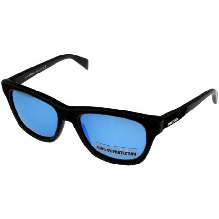 Diesel Sunglasses 100% UV Protection Black Blue Unisex Rectangular DL0111 01X