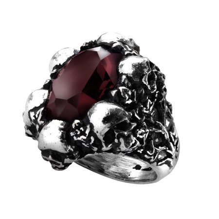 Alchemy Gothic Shadow of Death Ring Size T/9.5
